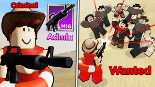 Killing EVERYONE with the M16 ADMIN WEAPON (Roblox Wild West)