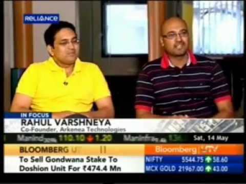 Arkenea Technologies on Bloomberg UTV