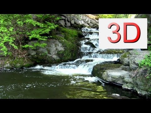 3D Video: relaxing Waterfall & GFX 528 hz