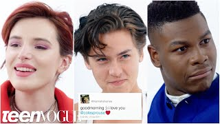 Bella Thorne, Cole Sprouse, John Boyega and More Compete in a Compliment Battle   Teen Vogue