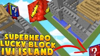 Minecraft 1v1 SUPERHERO LUCKY BLOCK SKY ISLAND BATTLES! | (Minecraft Modded Minigame)