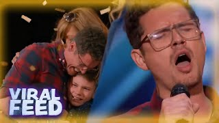 Father of SIX Wins Simon Cowells Golden Buzzer on America's Got Talent | VIRAL FEED