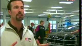 JD Gibbs Gives us a tour of the Race Shop