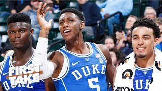 Why Zion Williamson can't carry Duke to an NCAA tournament title on his own | First Take