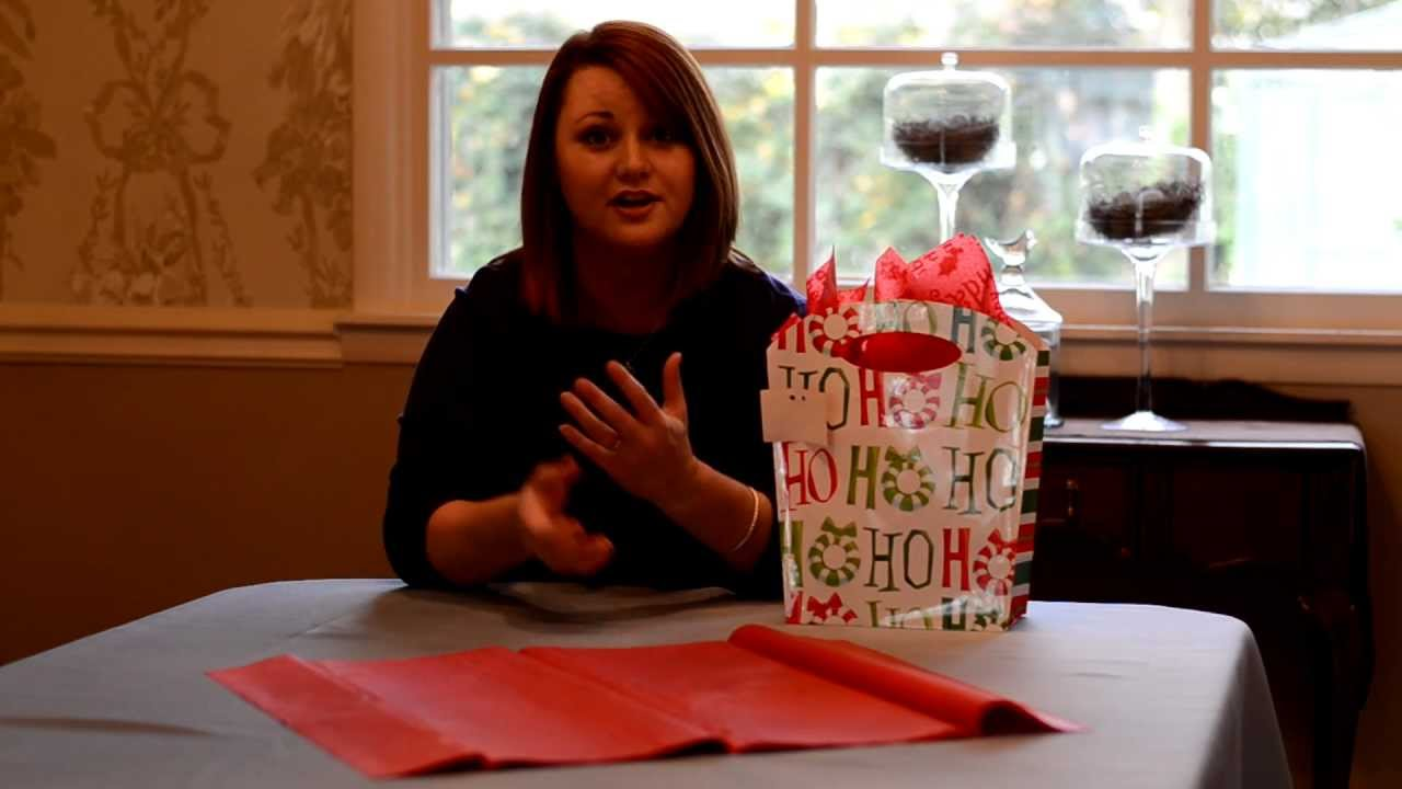 Gift Wrapping Ideas How To Use A Gift Bag Amp Tissue Paper