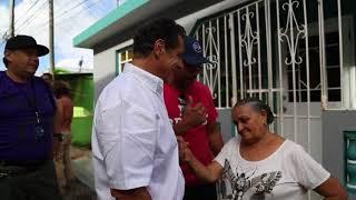 BROLL of Governor Cuomo in Orocovis, Puerto Rico