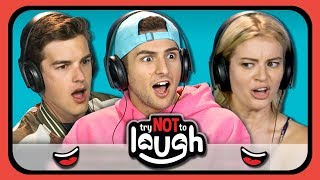 Try To Watch This Without Laughing or Grinning #9 (ft. YouTubers) (REACT)