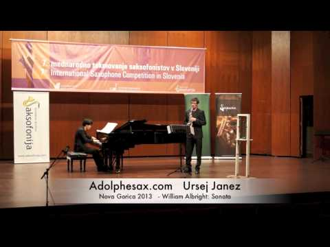 Ursej Janez - Nova Gorica 2013 - William Albright: Sonata