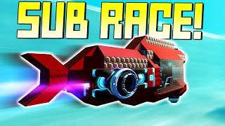 Submarine Racing on a Custom Underwater Race Course! - Scrap Mechanic Multiplayer Monday