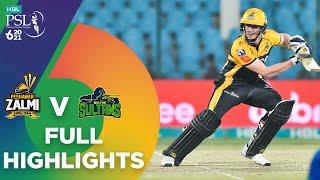 Full Highlights   Peshawar Zalmi vs Multan Sultans   Match 5   HBL PSL 6   MG2T