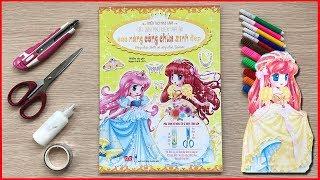 Đồ chơi cắt dán công chúa Bella & Jasmine bằng giấy, làm phụ kiện trang sức công chúa (Chim Xinh)