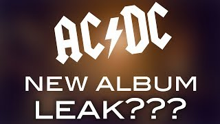 AC/DC New Album Recording Leak???