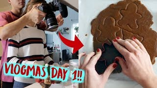 Behind the Scenes of my Vlogmas Intro!! (vlogmas day 1)