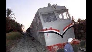 حادث قطار اسوان اليوم واسماء المصابين     -
