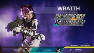 Apex Legends New Wraith Loading Screen and Character Selection Animation !!!!
