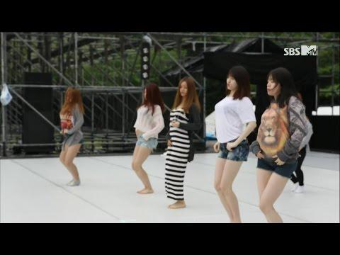 [걸스데이] 기대해 맨발 리허설 혜리 소진 유라 민아 사복 Expectation Rehearsal Hyeri Sojin Yura Minah 130615 Girl's Day