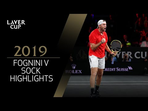 Match Highlights:  Fognini v Sock, Day 1, September 20 2019
