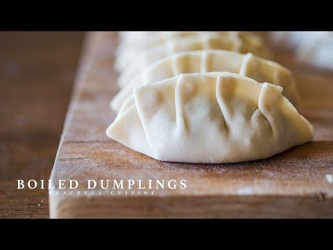 Boiled Dumplings (vegan) ☆ 水餃子の作り方