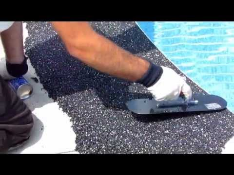 Rubber Pool Deck Surfacing Youtube
