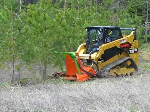 SS Mini Might Mulchers for Skid Steers on a CAT 259D Standard flow