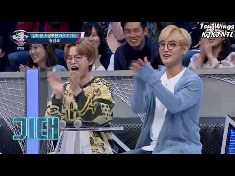Leeteuk and Shindong lipsyncing H. O. T's Candy