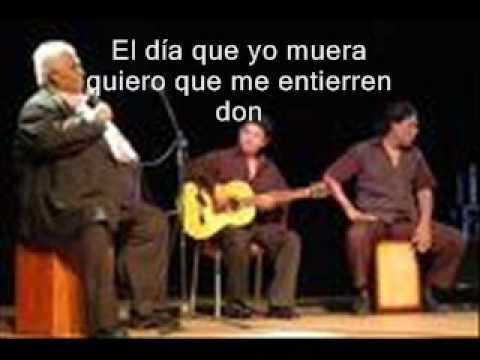 MIS CENIZAS- EL SAMBO CAVERO..CON LETRA..(CANTO INEDITO)2009