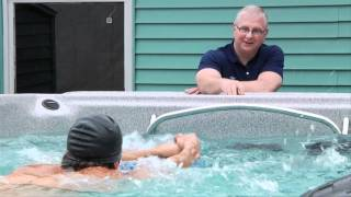 Michael Phelps Uses a Swim Spa to Train - MP Webisodes EP.01