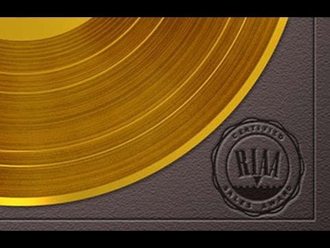 Photoshop Tutorial: How to Make a GOLD RECORD and PLAQUE