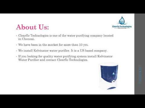 Kelvinator Water Purifier : Tasty and Healthy