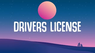 "Olivia Rodrigo - Drivers License (Lyrics) ""red lights stop signs I still see your face"""