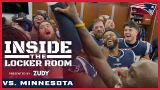 Inside the Locker Room after Vikings vs. Patriots | Celebrating a win on Sunday and a Victory Monday