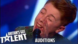 Kerr James: 12 Year Old Singing SENSATION Surprises With His Voice?! Britain's Got Talent 2019