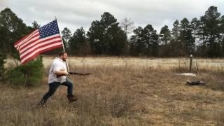 American Flag Shotgun Guy- Get Some!