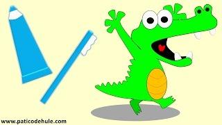 Paco el cocodrilo que no se cepillaba los dientes - cuidarse los dientes para niños