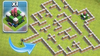 """NEW LVL 16 TOWER BEAST MODE!! """"Clash Of Clans"""" EPIC MAZE BASE!!"""