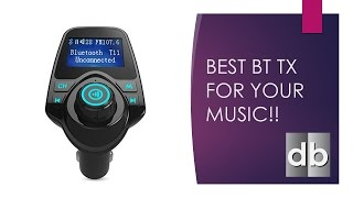 Best FM Bluetooth Transmitter For Older Cars KM19 + Mag Mount