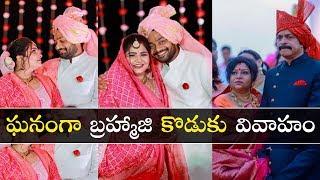 Watch: Actor Bramhaji son Sanjay destination wedding in Go..