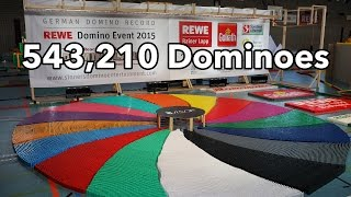 543,210 Dominoes - Dominoland - 3 Guinness World Records | 4K