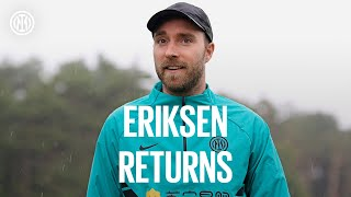WELCOME BACK, CHRISTIAN! Eriksen returns to the Suning Training Centre 🤗⚫🔵