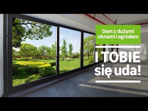 Dom z dużymi oknami i ogrodem (wideo)