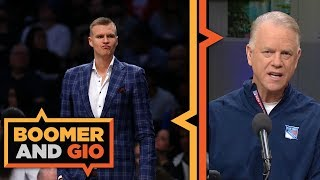 Boomer's glad the Knicks TRADED Kristaps Porzingis | Boomer and Gio