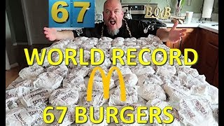 MCDONALD'S HAMBURGER CHALLENGE WORLD RECORD! - Collaboration with Corbucci Eats