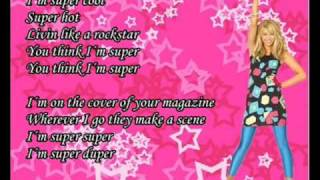 Hannah Montana -Supergirl With Lyrics