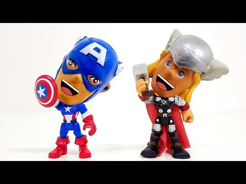 Captain America and Thor 3-Step Transformation | I want to eat so much cake! ❤️ Rachaman Toy