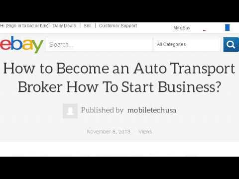 How-To Become An Auto Broker