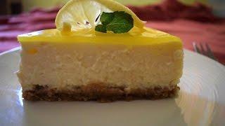 Eggless Lemon Cheese Cake