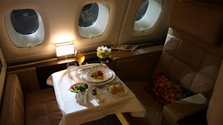 Etihad First Class (Apartments) - Abu Dhabi to London Heathrow (EY 19) - Airbus A380-800