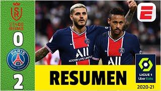 Reims 0-2 PSG. Doblete de MAURO ICARDI, jugaron Neymar, Di María, Mbappé, Keylor, Paredes | Ligue 1