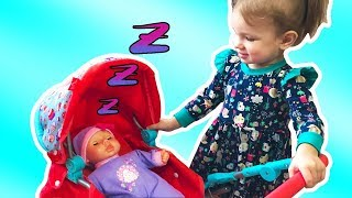 Funny Essy playing with Baby doll / Children pretend play with toys / Video for kids