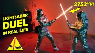 REAL LIGHTSABER DUEL! (2752°)